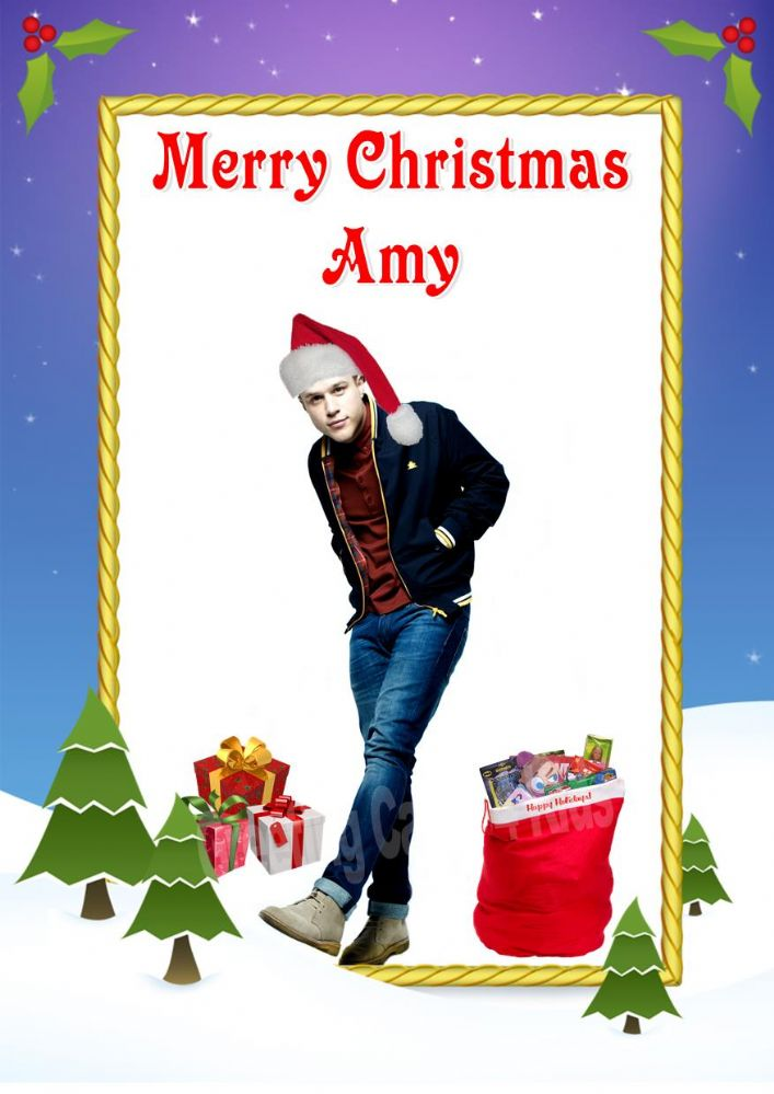 Personalised Olly Murs Christmas Card